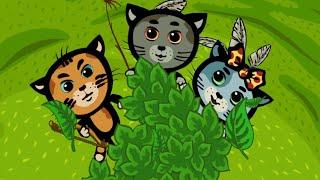 Развивающие и обучающие мультики для детей - теперь деревья будем поливать: Три котенка - песенки