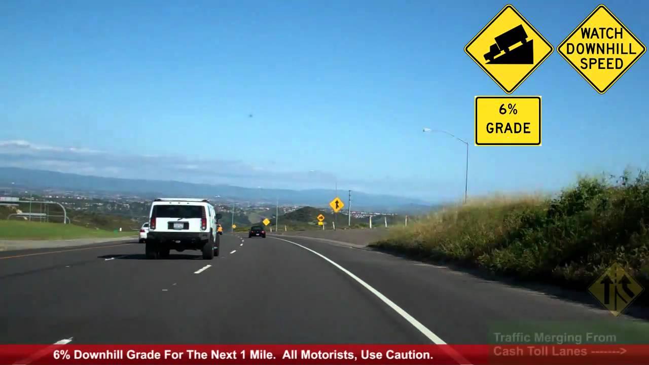 ca 73 south, san joaquin hills toll road, i-405 to i-5