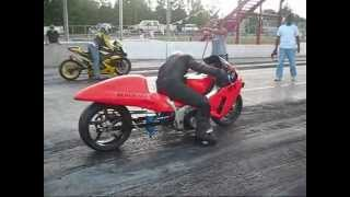 Suzuki Turbo Hayabusa of Death Drag Race Nitrous No Crash thumbnail