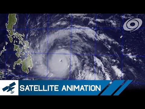 Typhoon Haiyan (Yolanda) - Satellite Imagery Timelapse (Nov 4-10, 2013)