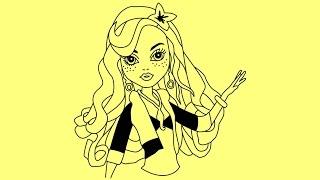 How to draw Monster High characters Lagoona Blue | Как нарисовать Монстер Хай Лагуну Блю