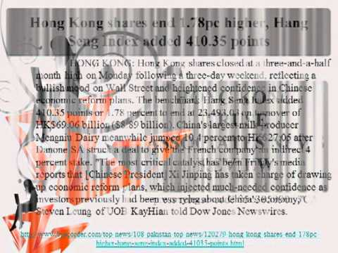 Hong Kong shares end 178pc higher, Hang Seng Index added 410.35 points