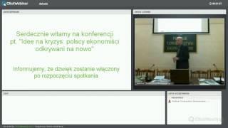 """2015.11.30 Konferencja pt. """"Idee na kryzys: polscy ekonomiści odkrywani na nowo"""""""