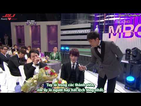 "[VIETSUB] [30.12.2012] MBC Drama Awards - Yoochun & JaeJoong ""Music in Drama"" Interview"