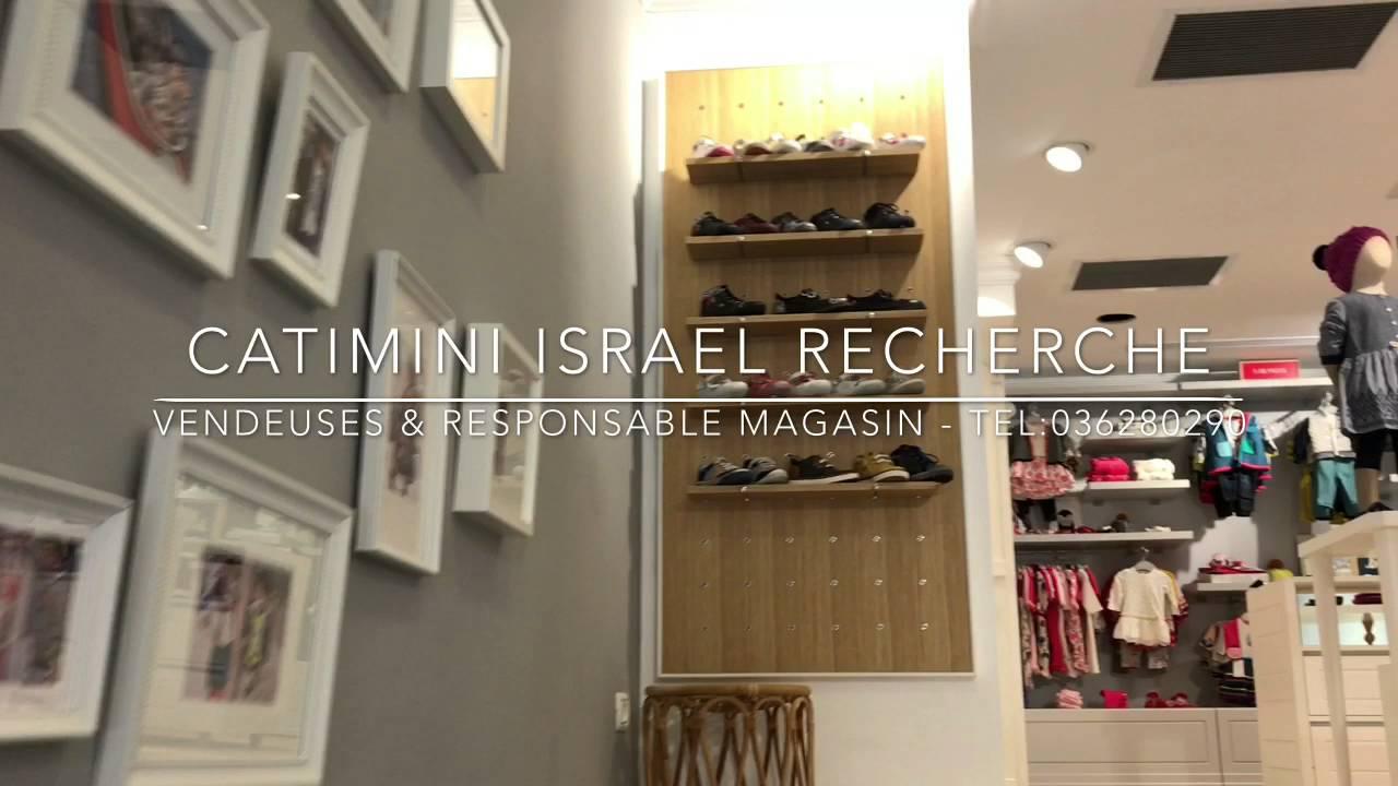 catimini israel recherche des vendeuses et une responsable de magasin youtube. Black Bedroom Furniture Sets. Home Design Ideas