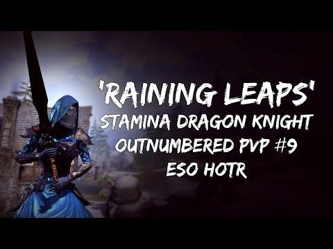 'Raining Leaps' | Stamina Dragon Knight PVP #9 | ESO Horns of the Reach