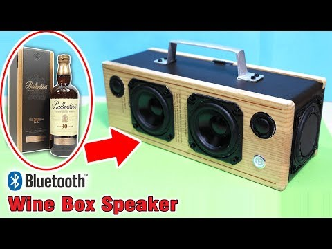 Building Bluetooth Speaker with Wooden Wine Box | Wooden Boombox