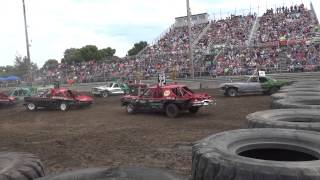 Mandan Team Destruction Derby - 2015 - Cars - Heat 2