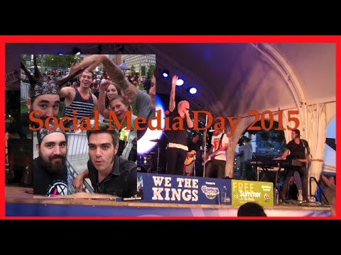 We The Kings Social Media Day 2015 in Detroit