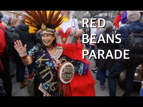 Red Beans Parade in New Orleans on Lundi Gras