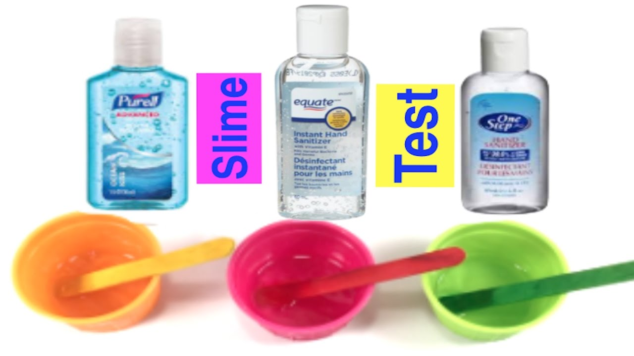 Testing Hand Sanitizer Slime Does It Work 1 Ingredient Slime