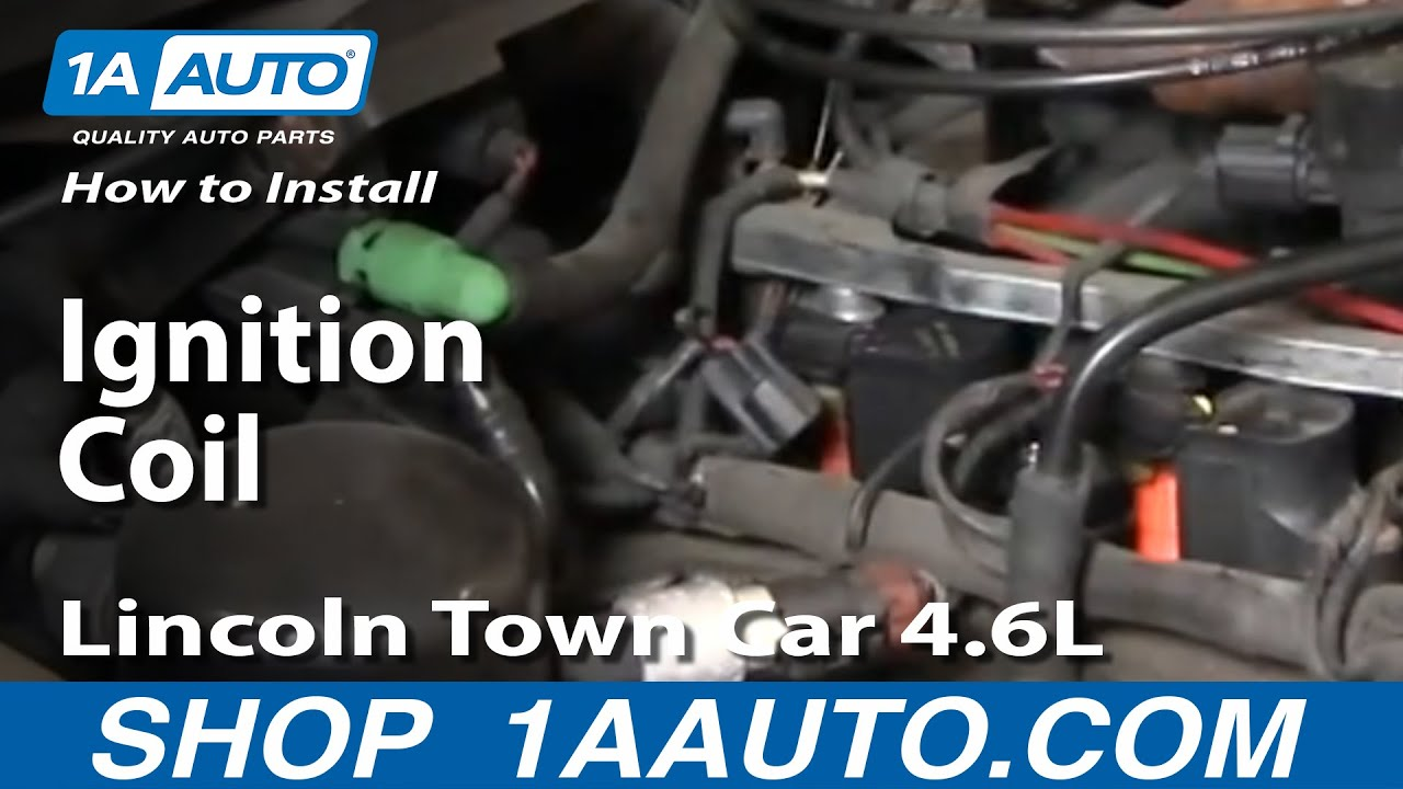 How To Fix Repair Replace Install Ignition Coil Lincoln Town Car 46 Ls1 Connector Wiring Diagram 46l 98 11 1aautocom Youtube