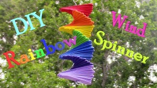 DIY Rainbow Wind Spinner From Popsicle Sticks