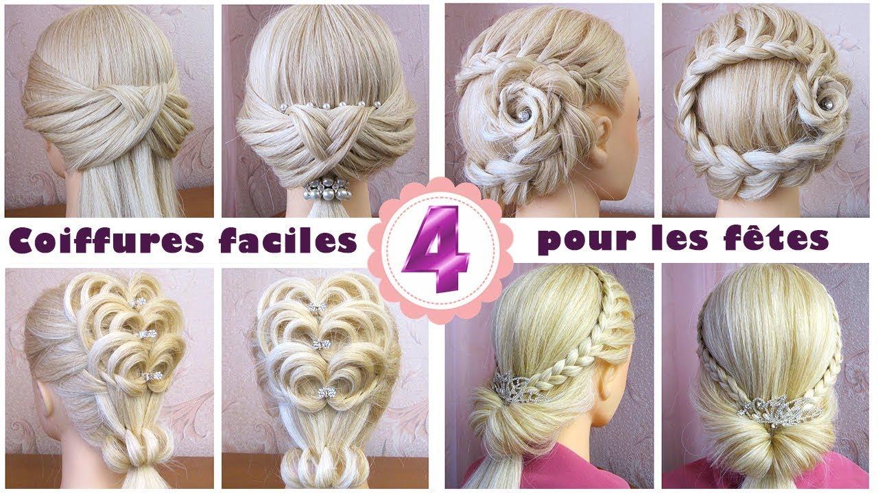 4 Coiffures Faciles Pour Les Fetes Noel Cheveux Long Mi Long