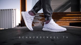 1d0ff523e1bd2 adidas ultra boost CLIMA triple white der Sommer Sneaker 2018   review  unboxing on feet german