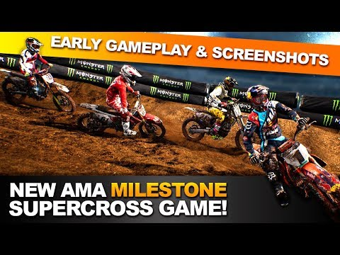 Early Gameplay Of The New Monster Energy Supercross Videogame!