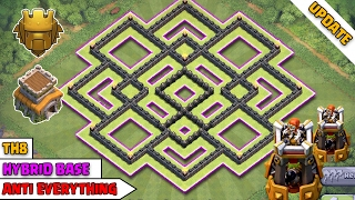 TH8 Hybrid Base with Bomb Tower ♦ TH8 FARMING BASE ♦ COC TH8 Hybrid Base ♦ Clash of Clans 2017