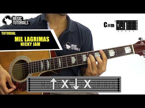 Cómo tocar Mil Lágrimas de Nicky Jam en Guitarra | Tutorial + PDF GRATIS