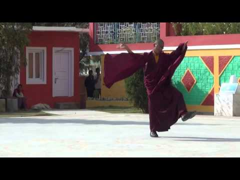 Small lama exam of holy dance
