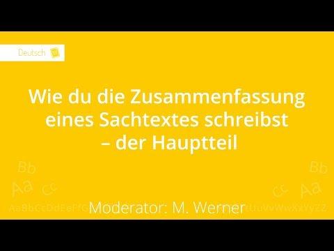 Wie Du Einen Sachtext Zusammenfasst Der Hauptteil Deutsch 6