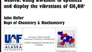 Using WebMO and NWChem