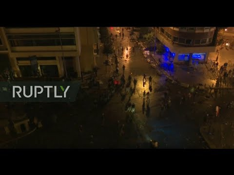 LIVE: Protesters flood the streets of Beirut