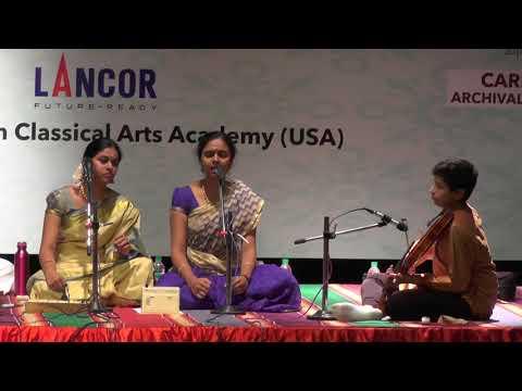 Anahita & Apoorva Ravindran L  Carnatic Vocal L Global Heritage Music Fest 2017 L Web Streaming