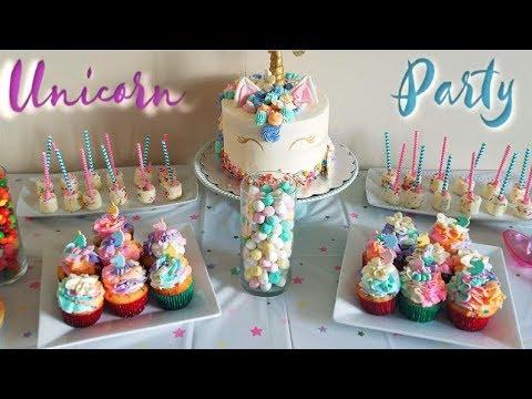 Unicorn Party Dessert Table Setup   Vlog