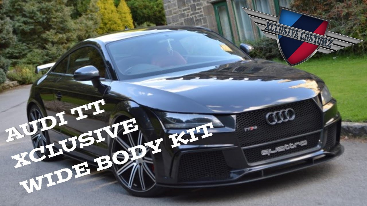 xclusive design audi tt rs full body kit for audi tt coupe youtube. Black Bedroom Furniture Sets. Home Design Ideas