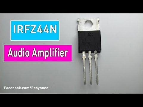 Audio Amplifier curcuit with Mosfet IRFZ44N