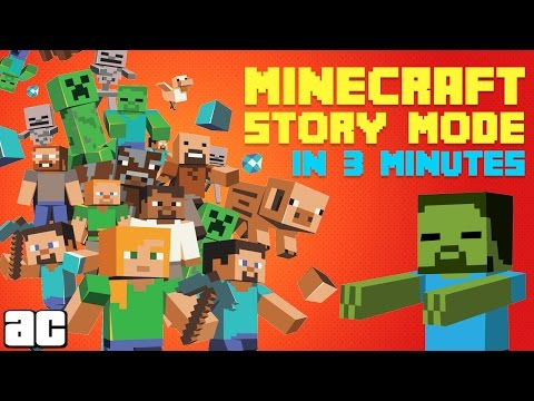 The Story of Minecraft: Story Mode In 3 Minutes! | Videogames in 3 @ArcadeCloud