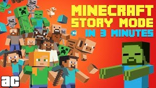 Arcade Cloud: The Story of Minecraft: Story Mode In 3 Minutes! | Videogames in 3