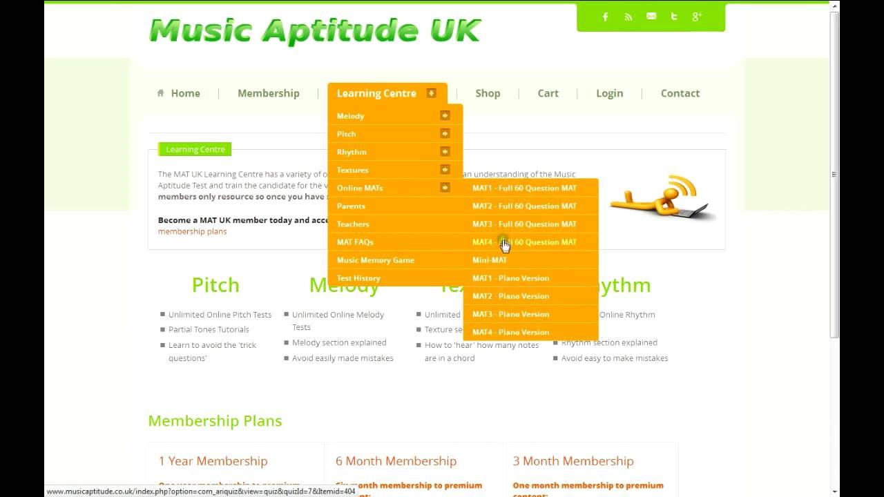 Music Aptitude Tests Online Youtube