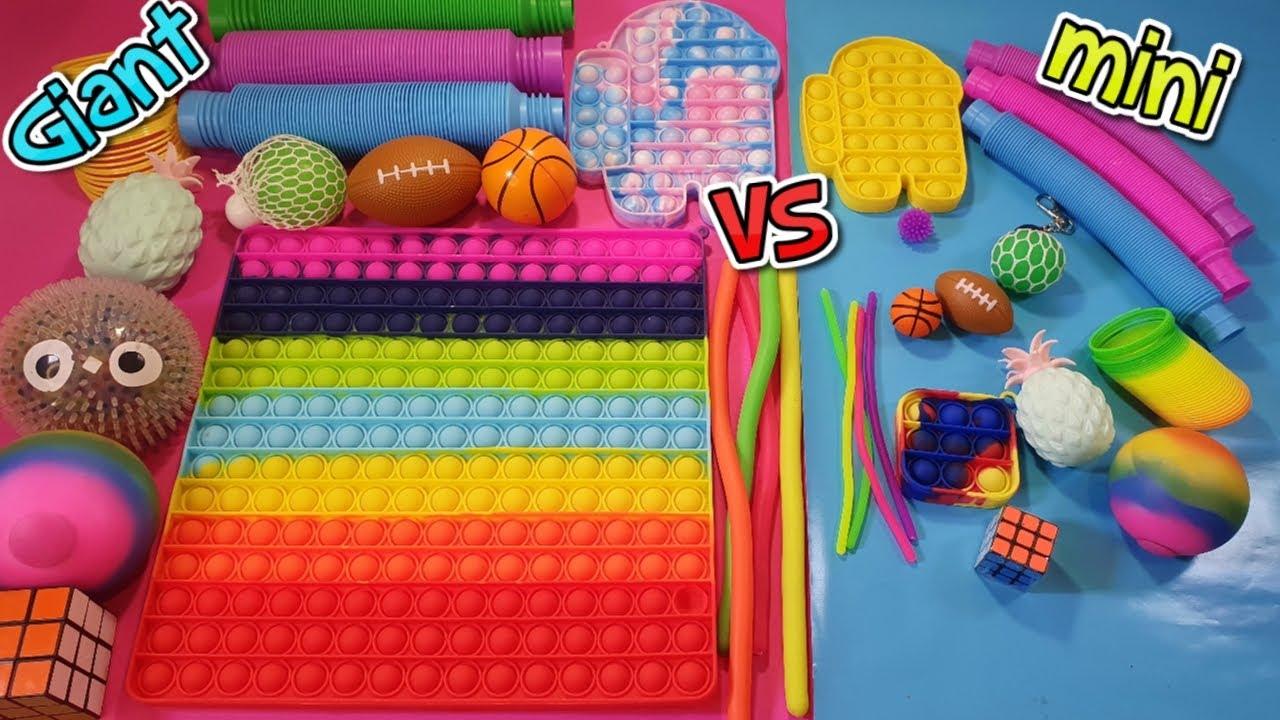Fidget Toys GIGANTES VS Fidget Toys Minis
