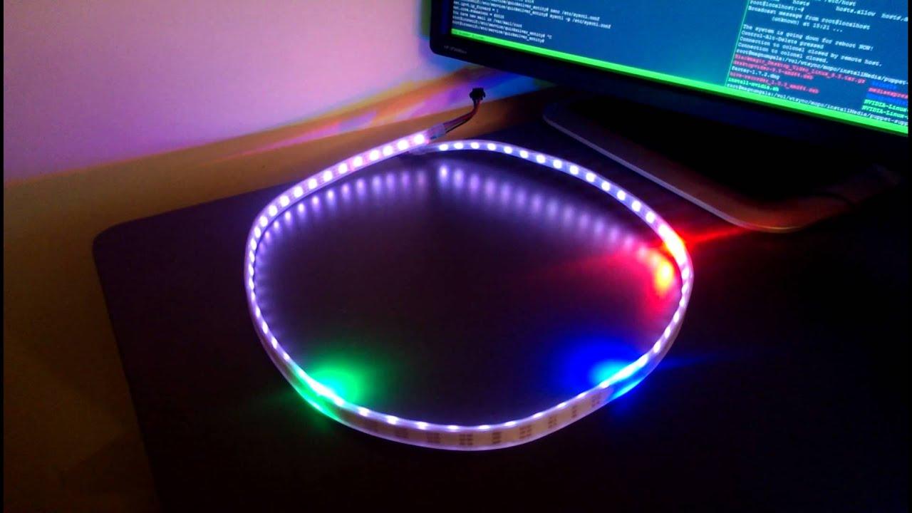 Arduino nano rtc ws led strip clock youtube