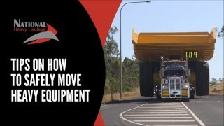 Tips on how to safely move heavy equipment