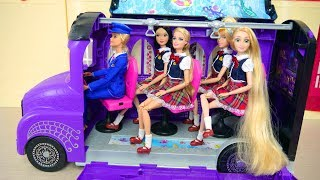 Barbie & Ken's Bunk Bed Bedroom Morning for School, Breakfast Cereal Sekolah pagi Barbie Casa Manhã