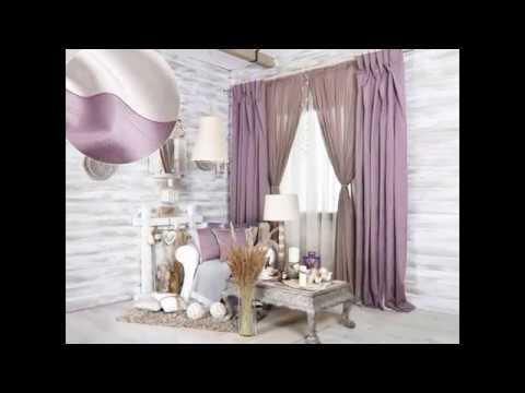 Сиреневые шторы в интерьере гостиной (Curtains for hostynoy)