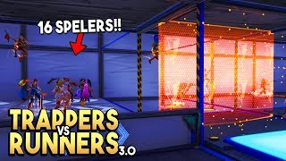 TRAPPERS vs RUNNERS 3.0 met 16 SPELERS! - Fortnite Creative (Nederlands)