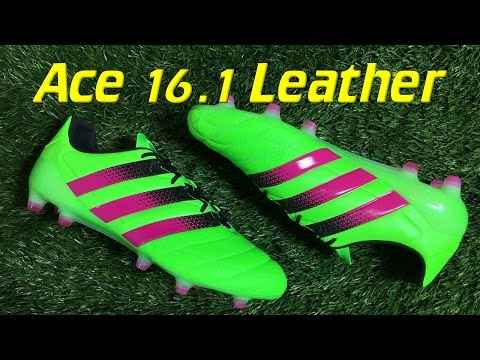 buy online 99ffc a3a32 K-Leather Adidas ACE 16.1 Solar Green/Shock Pink - Review + ...