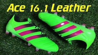 k leather adidas ace 16 1 solar green shock pink review on feet