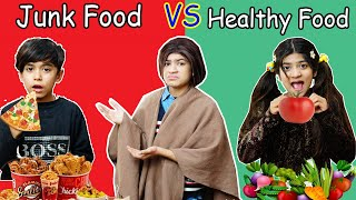 JUNK FOOD vs Healthy FOOD  | #MoralStory #moonvines #FamilyStory | MoonVines