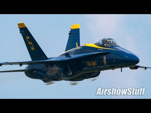US Navy Blue Angels (With Show Box Comms/No Music) - Terre Haute Airshow 2018