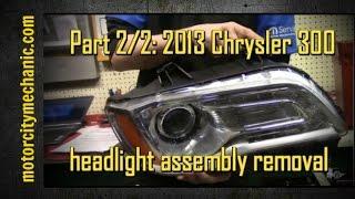 Part 2/2: 2013 Chrysler 300 front headlamp assembly