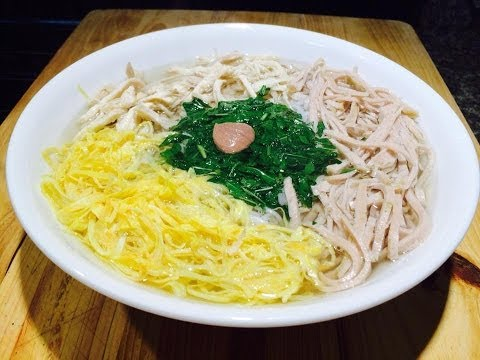 Vietnamese Vermicelli Noodle Soup | Bún Thang