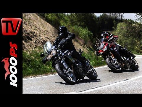 Triumph Tiger 800 XRx vs. Yamaha MT 09 Tracer Vergleich | Action Fazit
