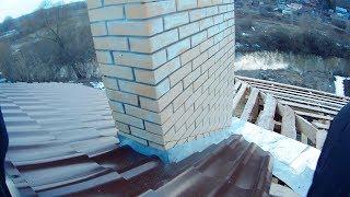 защита кирпичного дымохода от дождя #4. Огибаем дымоход