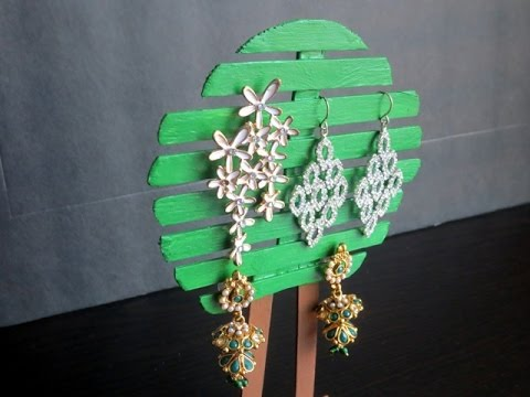 Diy Popsicle Sticks Tree Jewelry Holder Stand Youtube