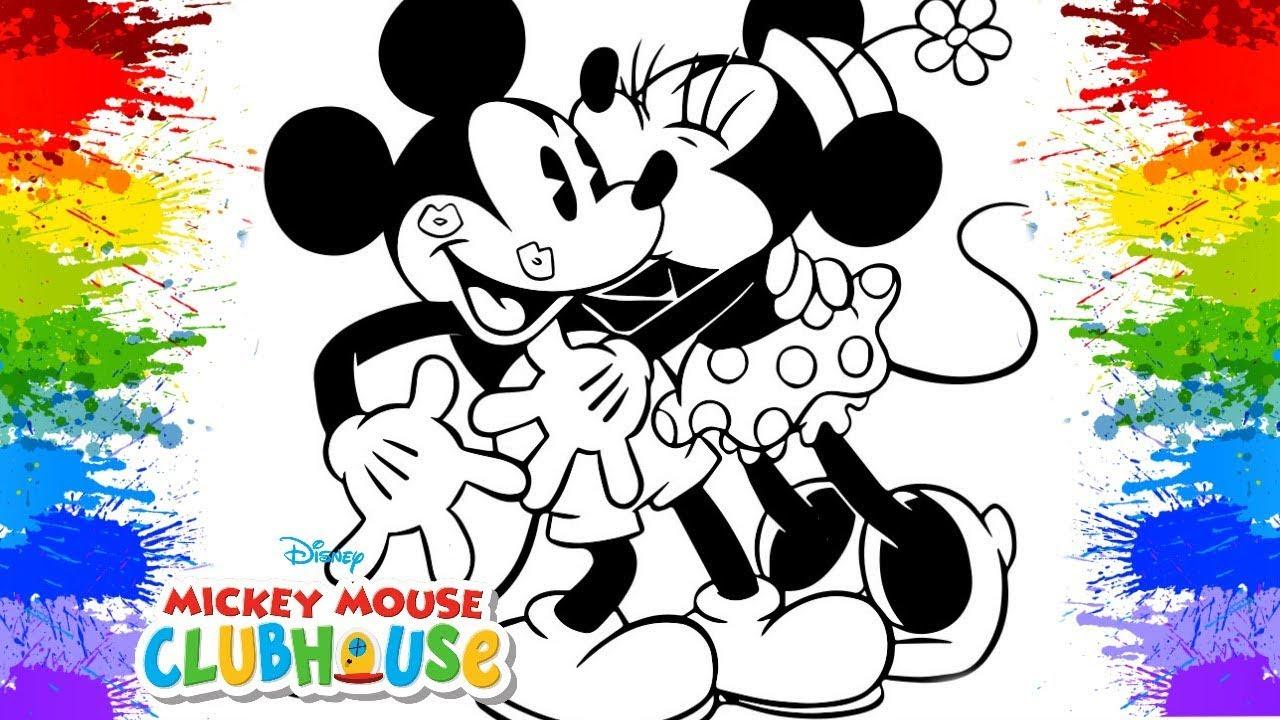 mickey e minnie pintura desenho animado para colorir desenhos em