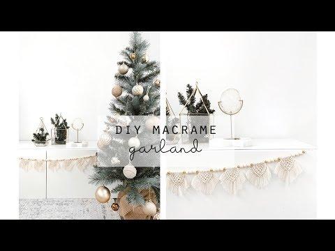 DIY Mini Macrame Garland Christmas Garland